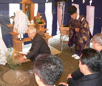 JA 海部東農業協同組合(あまひがし) -管内2カ所で地鎮祭行う