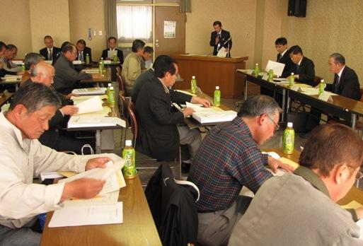JA 海部東農業協同組合(あまひがし) -あま市内の全支部長と経営所得安定対策会議を行う
