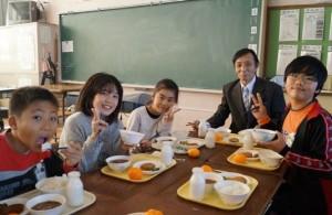 JA 海部東農業協同組合(あまひがし) -「かぶとまい」を学校給食へ寄贈
