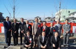 JA 海部東農業協同組合(あまひがし) -合併20周年を記念して神守支店に桜の木を植える