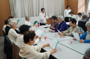 JA 海部東農業協同組合(あまひがし) -なの花の会 新年 詩吟教室