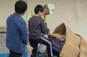 JA 海部東農業協同組合(あまひがし) -青壮年部・伊福保全会 脱穀・籾摺り体験指導
