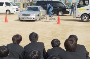 JA 海部東農業協同組合(あまひがし) -自転車交通安全教室 全共連、津島警察署と 連携した交通安全対策