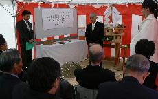 JA 海部東農業協同組合(あまひがし) -献穀に向け地鎮祭