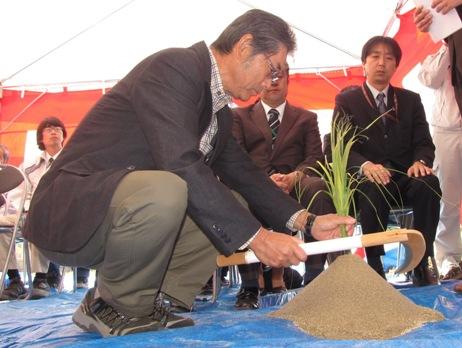 JA 海部東農業協同組合(あまひがし) -工事中の安全を祈願