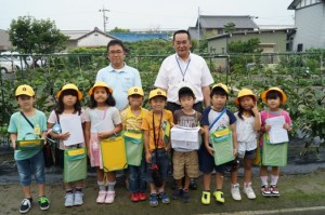 JA 海部東農業協同組合(あまひがし) -小学生が畑の授業に参加