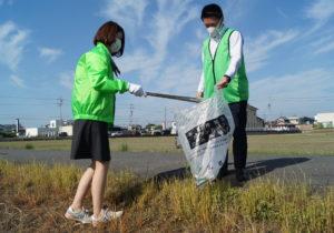 JA 海部東農業協同組合(あまひがし) -美和支店 「町をきれいに」道路清掃活動