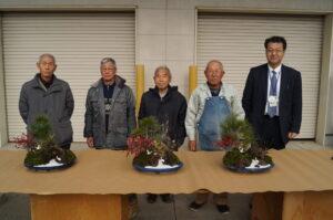 JA 海部東農業協同組合(あまひがし) -神守壮年者友の会 縁起を担いだ寄せ植えを制作