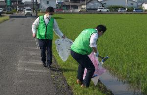 JA 海部東農業協同組合(あまひがし) -ゴミを「ゼロ」にするために 美和支店道路清掃活動